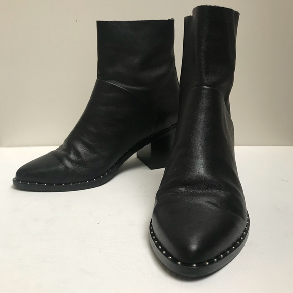 45d0b339d34 TREASURE & BOND 'Farrah' Studded Black Bootie Sz 7